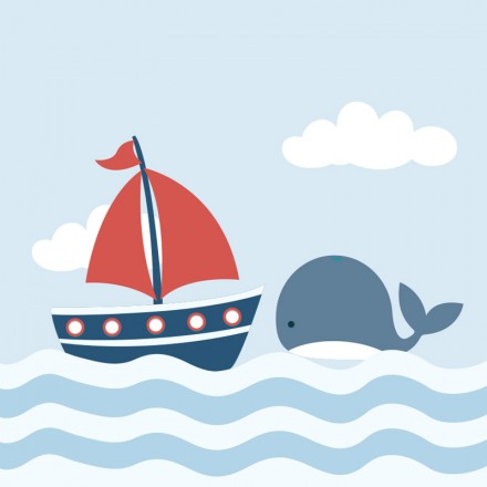 Boat & Whale