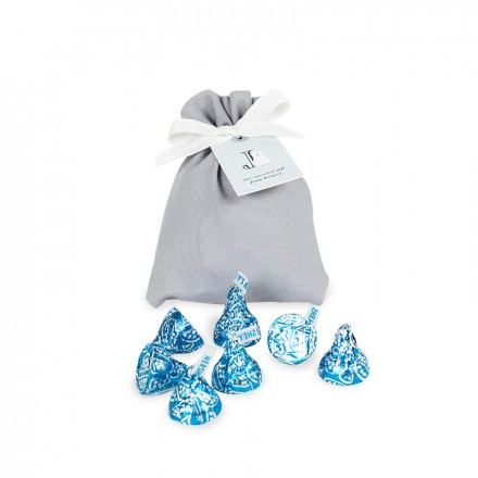Pouch of Hershey's Kisses Cookies & Creme (8 pcs)
